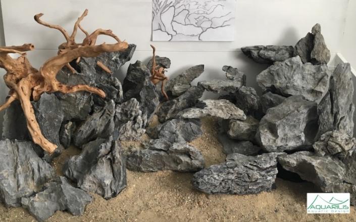 Maquette décor aquarium